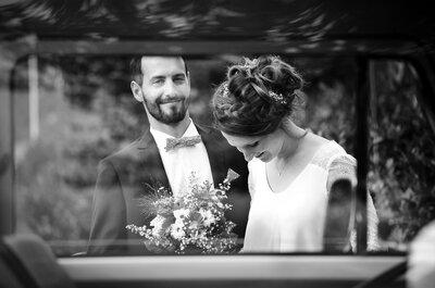 Julie et David : un mariage au cœur de l'Auvergne avec un superbe combi orange et une déco DIY