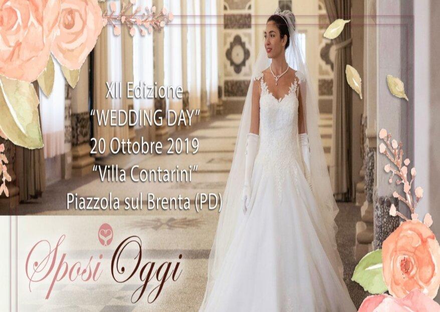 Sposi Oggi: un wedding day a Villa Contarini il 20 ottobre 2019