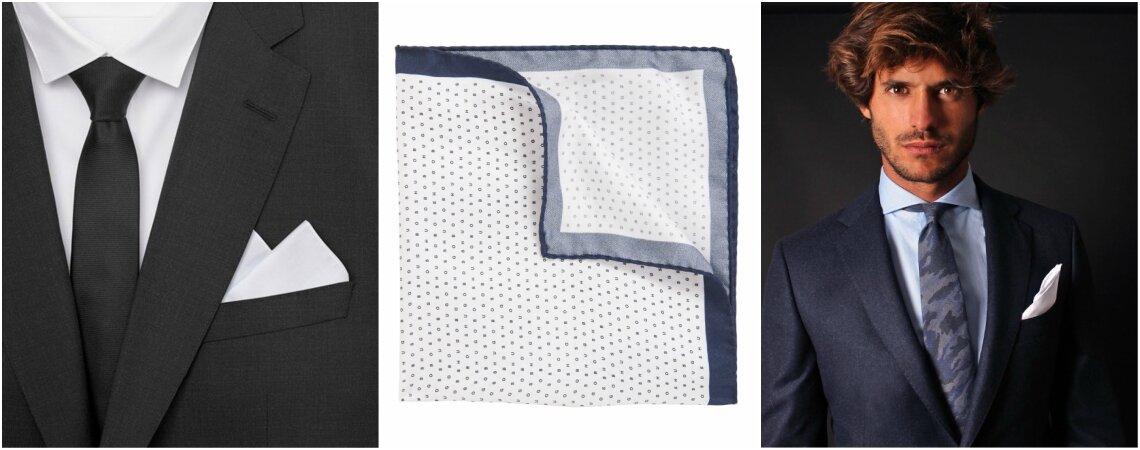 Pañuelo de bolsillo para novios: un detalle nupcial y elegante que vuelve a estar de moda