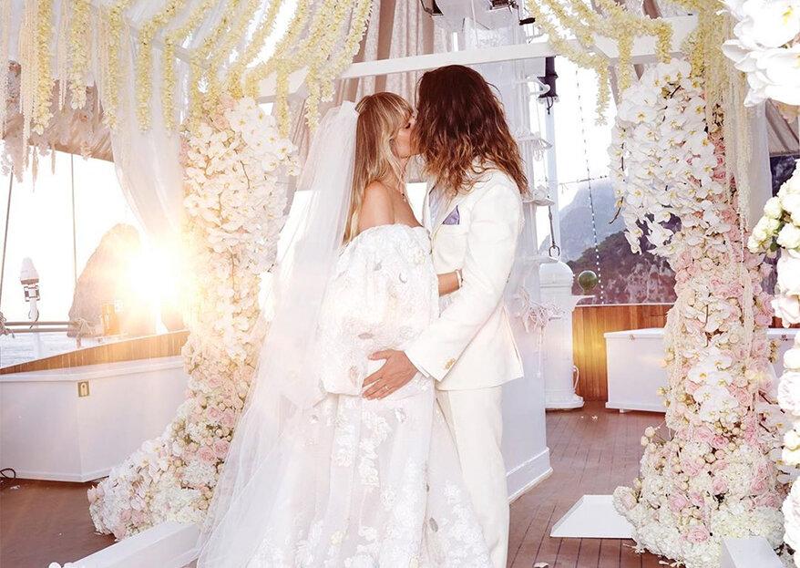Heidi Klum e Tom Kaulitz casam pela segunda vez num iate de luxo em Itália