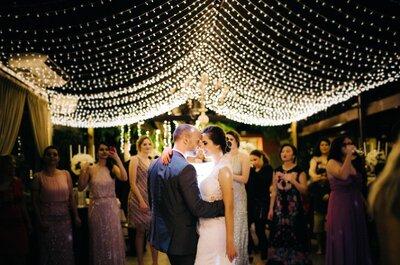 Sophia e Guilherme: casamento clássico com show de luzes!