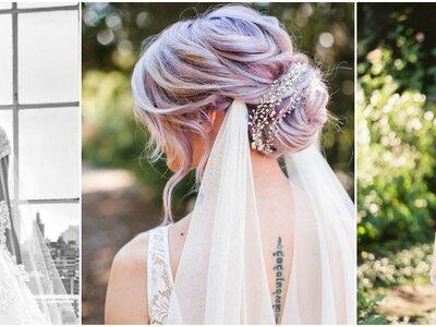 Laat je inspireren door deze prachtige kapsels met sluiers - en draag er zelf een op jouw bruiloft!
