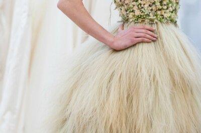 ¿Quién da más? Vestidos de novia de flores naturales