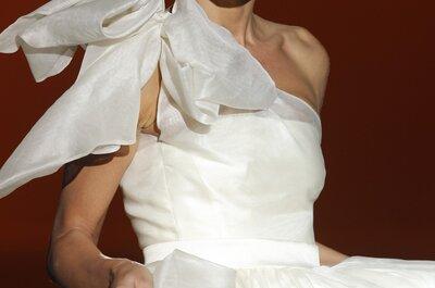 Efectos tridimensionales en la pasarela de Juana Martín: Los vestidos de novia 2015 que nos obsesionan