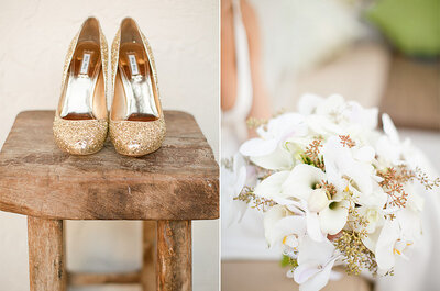 Zapatos para novias 2014: brillos, color y transparencias