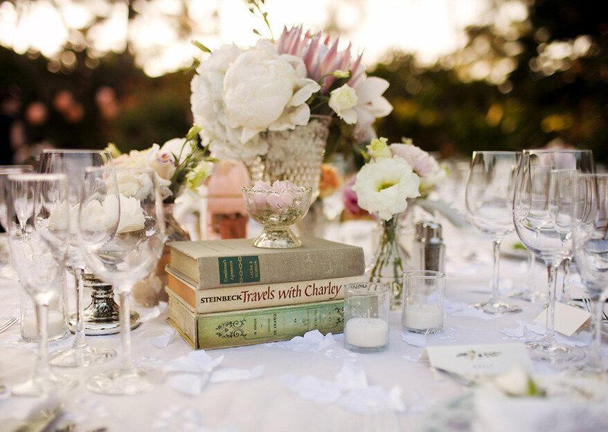 Decora tu boda con libros: Tema de boda para las amantes de la literatura