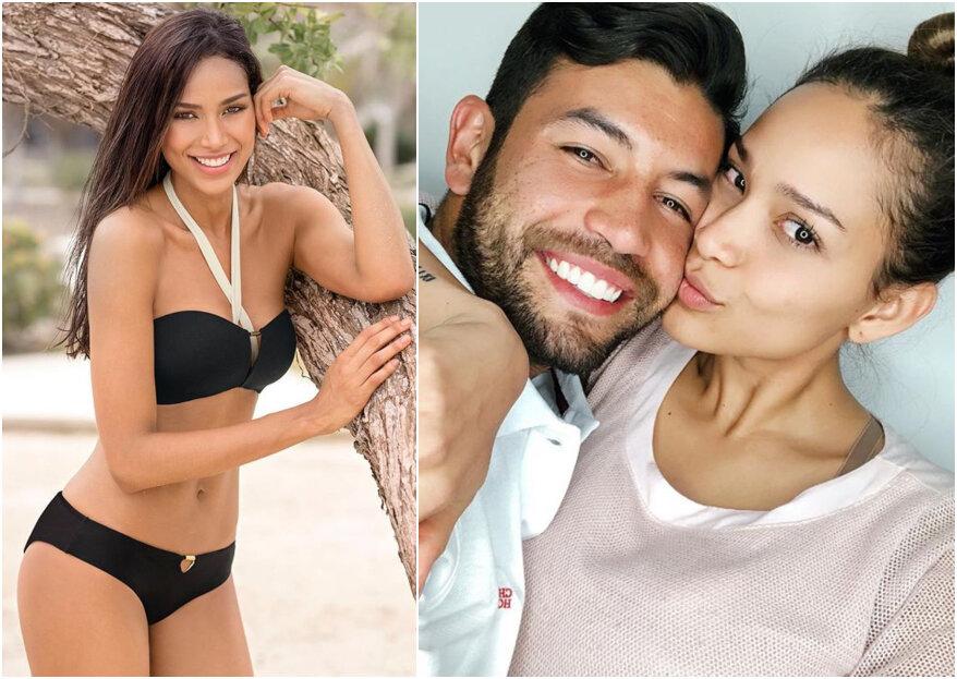 La exseñorita Colombia Andrea Tovar se comprometió con su novio, el futbolista Juan Guillermo