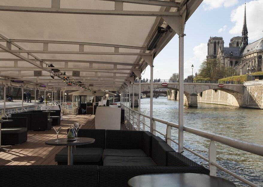 LA PÉNICHE : célébrez votre mariage sur la Seine avec une vue imprenable sur la capitale