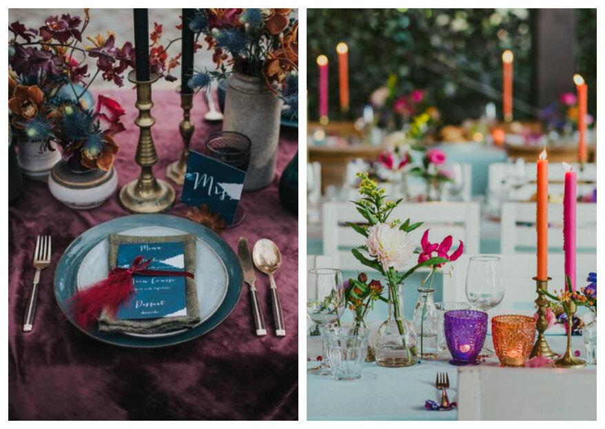 Kleur thema op jullie bruiloft