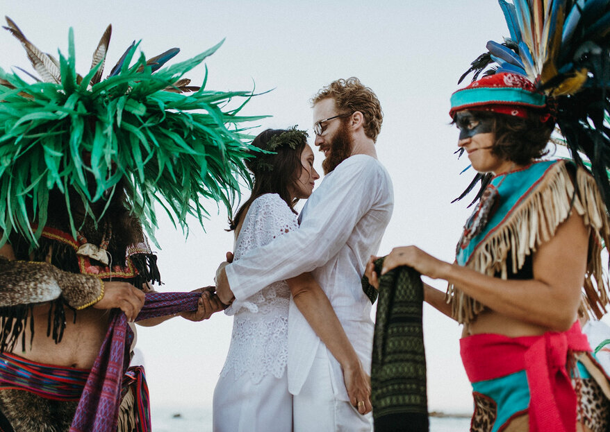 Liz & Mike, una boda azteca en Puerto Pescadero, Baja California