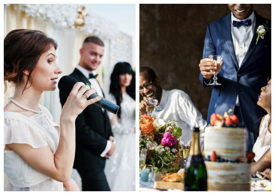 Speech op de bruiloft: wie laat jij een toespraak houden?