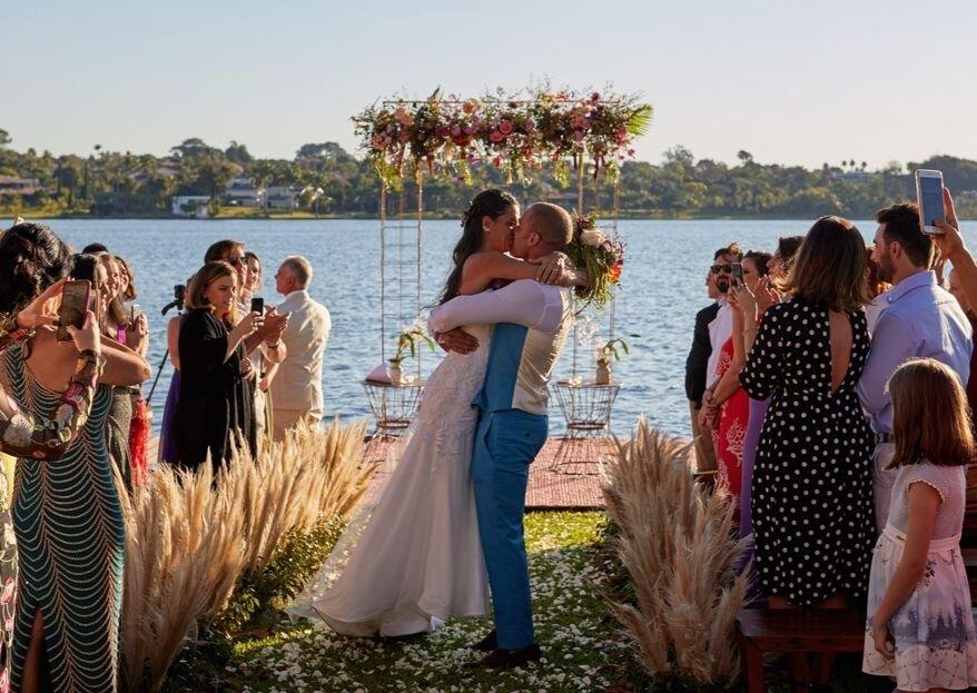 Bruna & Frederic: natureza como cenário incrível deste casamento decorado por Renata Paraíso.