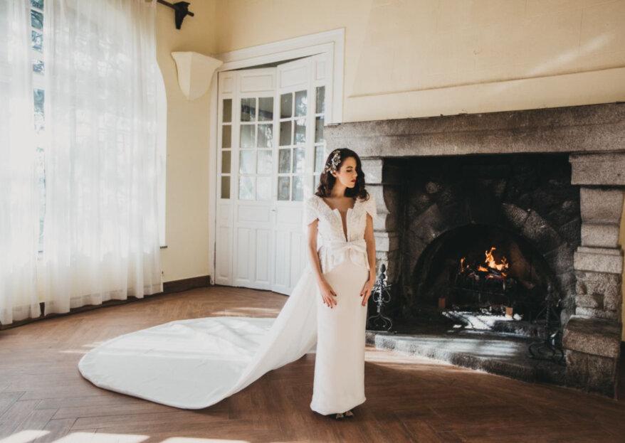 La novia con el glamour de Hollywood: un look para triunfar