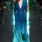 Платье Elie Saab 2015 синее платье в пол