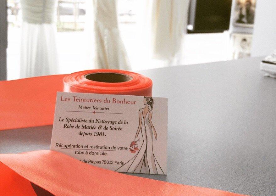 Les Teinturiers du Bonheur : le spécialiste qu'il vous faut pour le nettoyage de votre robe de mariée