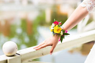 Zamiast bukietu dla świadkowej: korsarz czyli kwiatowy stroik