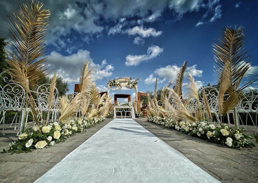 Addobbi floreali per un matrimonio civile: scopri gli elementi da non sottovalutare!