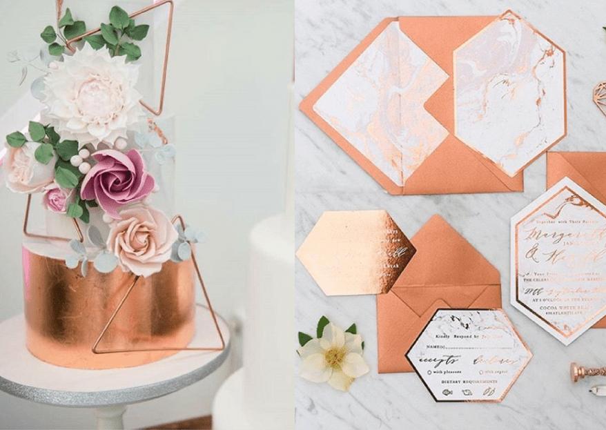 Bodas color cobre: La tendencia en decoración más chic para tu día B
