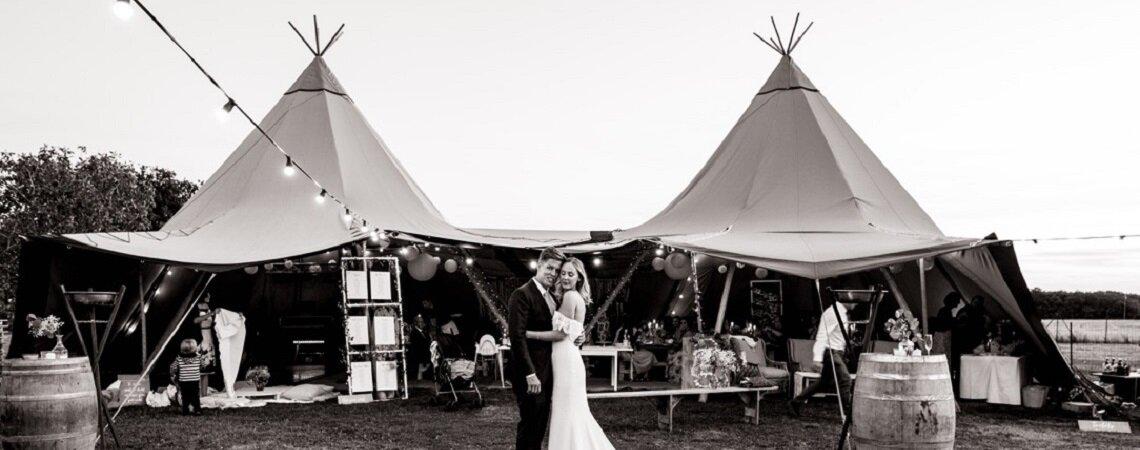 Wedding Tipi : la nouvelle image d'un mariage nomade chic