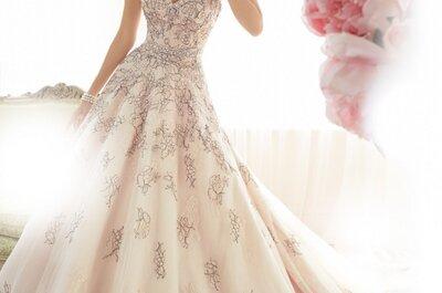 Sophia Tolli 2015: Vestidos de novia inspirados en un suave romance y hermosos colores