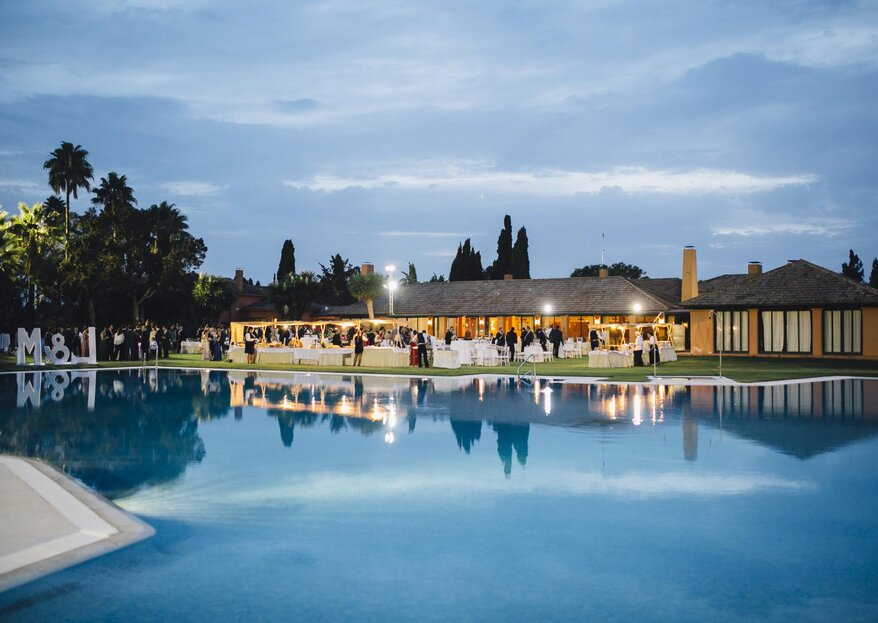 Celebra vuestra boda en Sevilla con Catering ACS y Real Club de Golf
