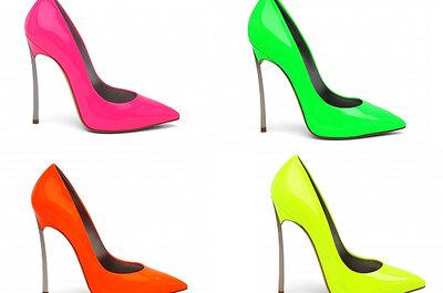 Festliche Schuhe für Hochzeitsgäste in Neon-Farben
