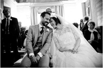 Eva & Alessio, реальная свадьба в стиле винтаж и не большим бюджетом