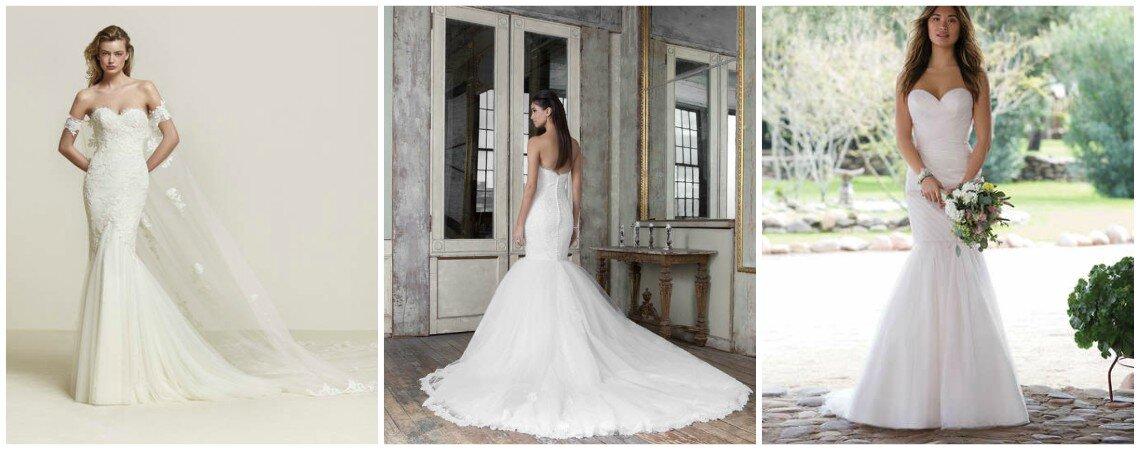 Verlieben Sie sich in diese Brautkleider im Meerjungfrauen-Stil
