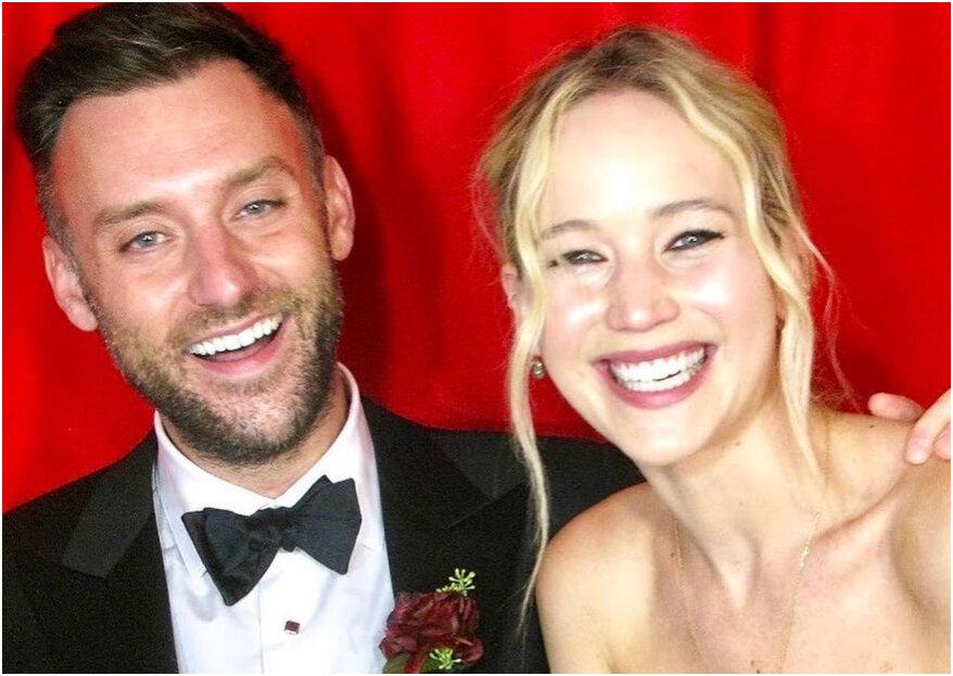 Jennifer Lawrence is met Cooke Maroney getrouwd in Rhode Island!