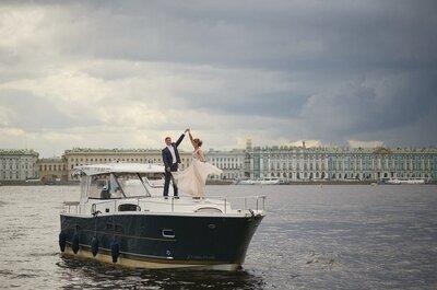 Свадьба Вероники и Петра в морском стиле