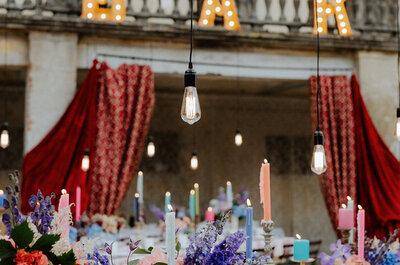 Las bodas eclécticas: el estilo que arrasa entre los novios de 2017