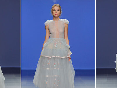 Vestidos de novia azules 2016. ¡Una propuesta que te encantará!