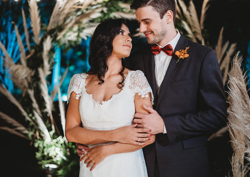 Raisa & Samuel: Decoração linda e sustentável assinada pela Flor Brasileira marca a troca de alianças do casal