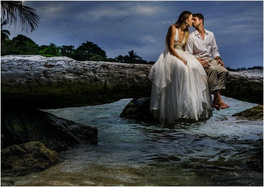 Francesco y Jessica: ¡un amor cómplice y una boda de ensueño en las playas de Panamá!