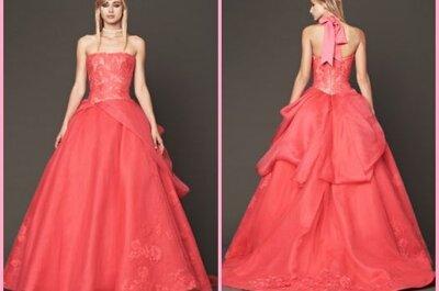 Różowa kolekcja sukien ślubnych- Vera Wang na jesień 2014.