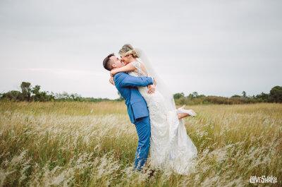 Casamento rústico chic de Luanny e Rafael: celebração dos sonhos com muito romance e descontração!