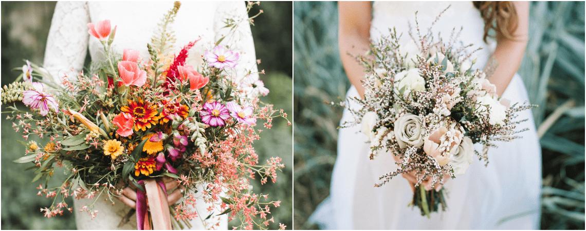 Mais de 70 Buquês de noiva com flores silvestres: dê um toque boho chic deslumbrante ao seu look!