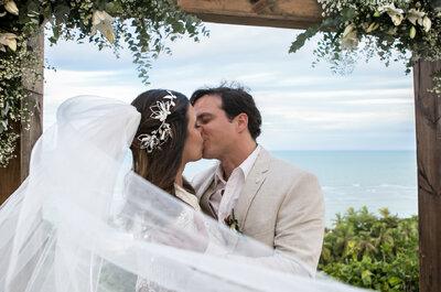Bethanya & Bruno: casamento rústico chic à beira mar em Arraial D´Ajuda!