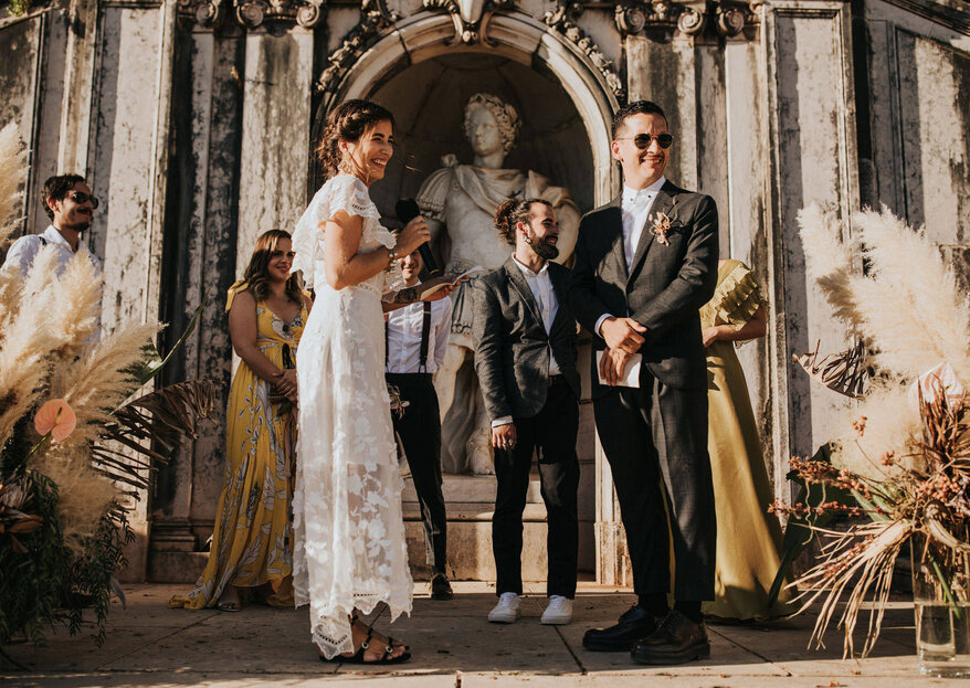 Natalia & Armando: um casamento bucólico com o jardim botânico como cenário e as iguarias da Estufa Real