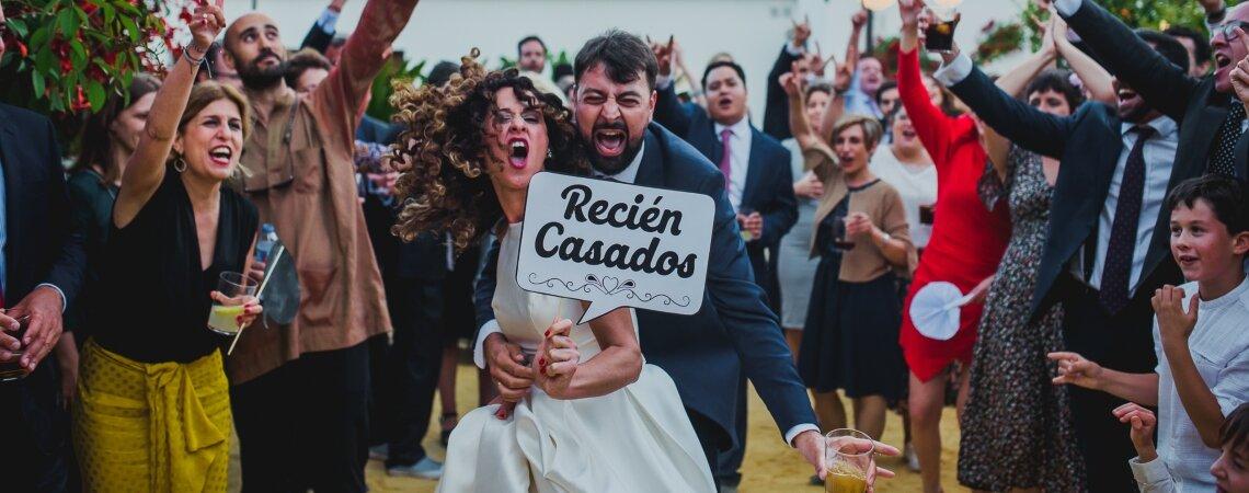 Dos gaditanos que se encontraron en Málaga: la boda de María y Antonio