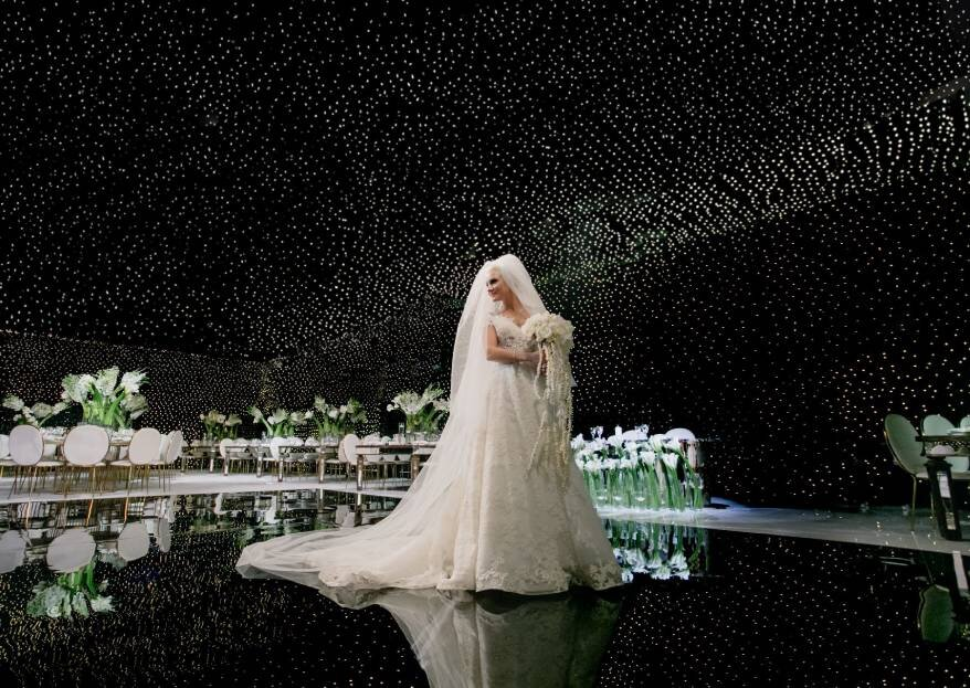 Волшебный небосвод для Юлии и Михаила: свадьба в чарующем саду