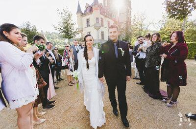 Un mariage dans un château de conte de fées pour Charlotte et Tristan