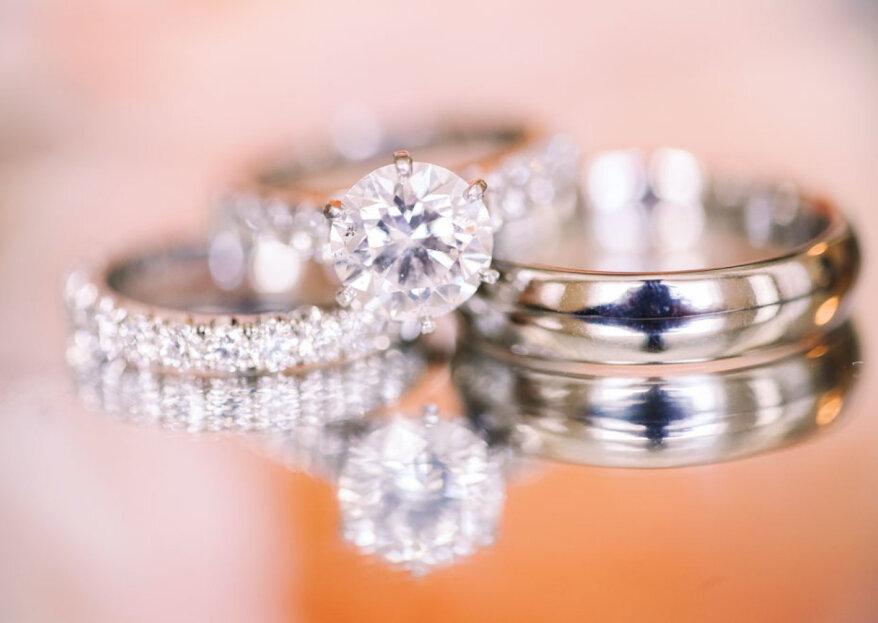¿Cómo combinar un anillo de compromiso con los aros de matrimonio? ¡Logra la unión perfecta!
