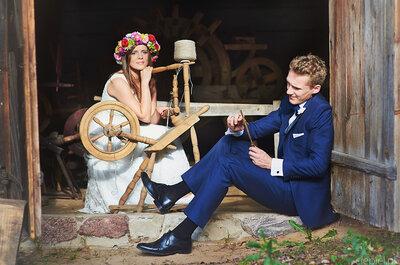 Pełen ciepła i radości ślub Pauliny i Tomka, a zaraz po... sesja w stodole ze słonecznikami. Cudowny reportaż ślubny!