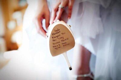 Zapatos de novia con suelas personalizadas. ¡Marca la diferencia en cada paso!