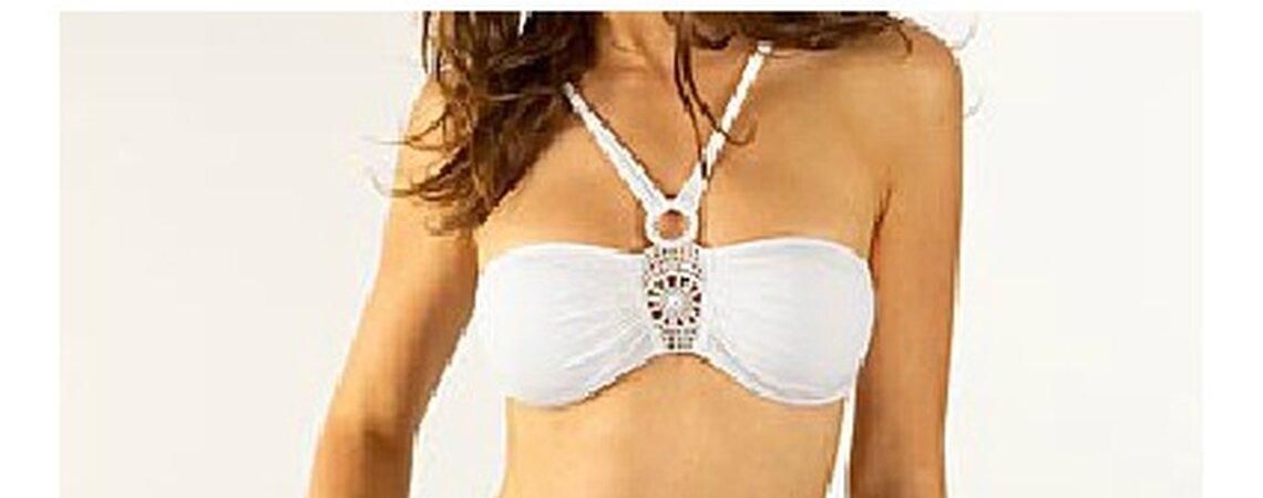 Si pasarás tu luna de miel en una playa tropical, estas son las tendencias en bikinis.  Foto de Etam.