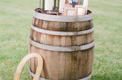 Barriles y cómo decorar tu boda con ellos: Las ideas más extraordinarias para el gran día