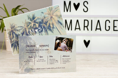 Avec Tadaaz, créez vos faire-part de mariage en ligne et recevez-les en seulement 24 heures !