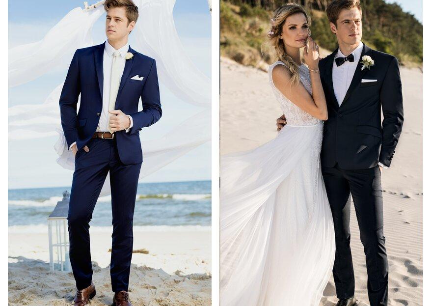 Na co zwracać uwagę przy wyborze garnituru ślubnego? Wskazówki od polskiej marki Giacomo Conti