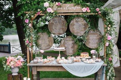 10 идей оформления свадебной рассадки